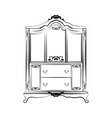Classic royal ornamented glass closet vector image vector image