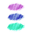colorful chalked spots for design vector image vector image