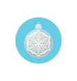 Colorful Icon Silver Ball with Snowflake vector image vector image
