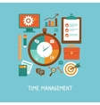concept in flat style - time management vector image vector image