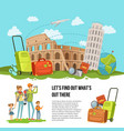 concept italian sights vector image vector image