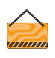 construction road signs design vector image vector image