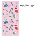cosmetics product with vector image vector image