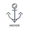 cruise and sea traveling ship anchor isolated vector image