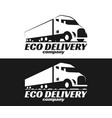eco truck logo vector image vector image
