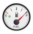 fuel gauge full tank round car dashboard 3d vector image vector image