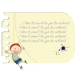 Funny school boy vector image