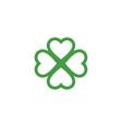 green clover leaf logo template vector image vector image