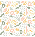 hand drawn seamless pattern trendy print with vector image vector image