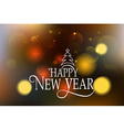 Hand sketched Happy New Year logotype badge and vector image