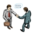 handshake of 2 peoples vector image