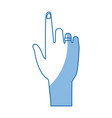 human hand pointing index gesture vector image