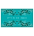 invite to the wedding vector image vector image