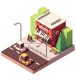 isometric musical instrument store vector image vector image