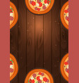 italian pizza poster fast food flat vector image vector image