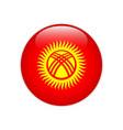 kyrgyzstan flag on button vector image vector image