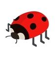 Ladybug icon isometric 3d style vector image vector image