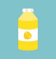 lemonade bottle flat design icon vector image vector image