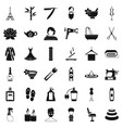 make up icons set simple style vector image vector image