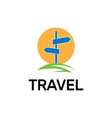 map point location logo pin travel symbol vector image vector image