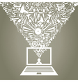 Mechanical Laptop vector image vector image