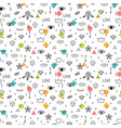 memphis style doodle seamless pattern with eyes vector image