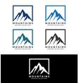 mountains logo template image vector image