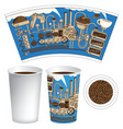 paper cup for hot drink with a coffee machine vector image vector image