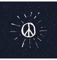 Peace symbol pacific sign vector image vector image