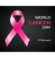 pink ribbon breast cancer awareness symbol vector image