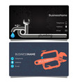 plumbing business card vector image vector image