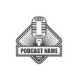 podcast logo design template vector image vector image