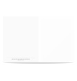 Postcard template isolated on a white background vector image vector image