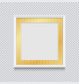 realistic white square picture or photo frame vector image