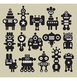 robot characters vector image vector image