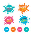 sale discount icons special offer price signs vector image vector image