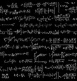 seamless background of many formulas vector image
