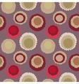 Seamless geometric spotty polka dot pattern vector image