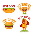 set fast food vector image