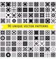 set ninety patterns vector image