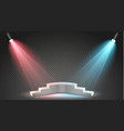 set of colored searchlights on a transparent vector image vector image