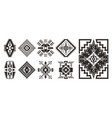 set of ethnic decorative elements isolated on vector image vector image