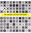 Set of ninety patterns vector image