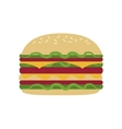single hamburger icon vector image vector image