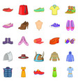 sport shoes icons set cartoon style vector image vector image