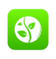 sprout icon green vector image vector image