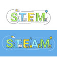 stem and steam education approaches concept vector image vector image