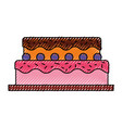 sweet and delicious cake vector image vector image