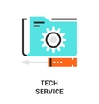 tech service icon vector image vector image