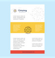 template layout for star comany profile annual vector image
